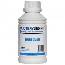 Atrament barwnikowy / Dye do ploterów z głowicami Epson DX5 500ml Light Cyan