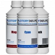 Atrament barwnikowy / Dye do ploterów z głowicami Epson DX5 1 litr Cyan